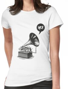 Hip-Hop Gramophone Womens Fitted T-Shirt
