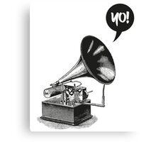 Hip-Hop Gramophone Canvas Print