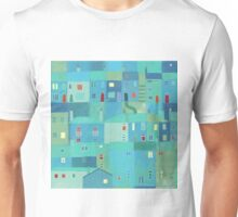 Blue town from the steps Unisex T-Shirt