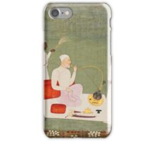A nobleman smoking a hookah on a terrace with attendants, India, Mughal or Deccan, 18th century iPhone Case/Skin