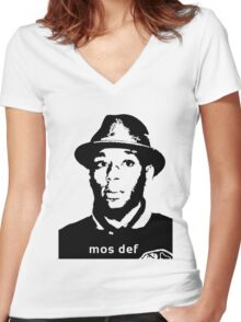 Mos def shirt Women's Fitted V-Neck T-Shirt