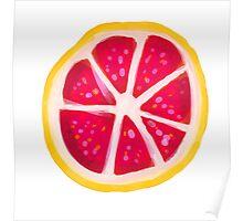 Grapefruit Slice Poster