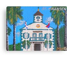 Courthouse in St. Maarten Canvas Print