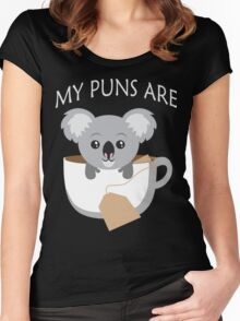 Koala My Puns Are Women's Fitted Scoop T-Shirt