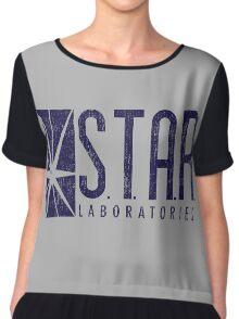 STAR Labs - Blue- Grunge Women's Chiffon Top