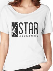 STAR Labs - Black - Grunge Women's Relaxed Fit T-Shirt