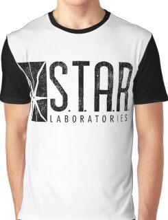 STAR Labs - Black - Grunge Graphic T-Shirt
