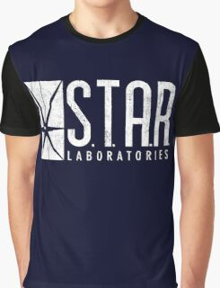 STAR Labs - White - Grunge Graphic T-Shirt
