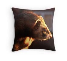 Polecat at Sunset Throw Pillow