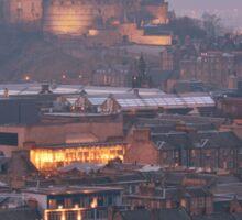 Edinburgh Castle at Dusk Sticker