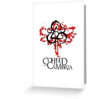 coheed and cambria dragonfly Greeting Card