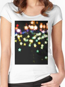 Bokeh Star Women's Fitted Scoop T-Shirt