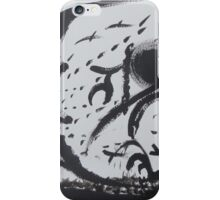 Confrontation in black and white iPhone Case/Skin
