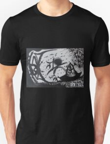 Confrontation in black and white Unisex T-Shirt