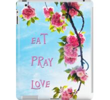 Pink Cherry Blossoms on Branch iPad Case/Skin