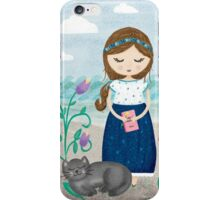 She is most alive by the sea iPhone Case/Skin