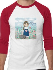 She is most alive by the sea Men's Baseball ¾ T-Shirt