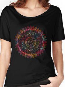 Rainbow Kitty Cat Mandala Women's Relaxed Fit T-Shirt