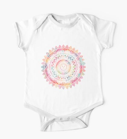Rainbow Kitty Cat Mandala One Piece - Short Sleeve