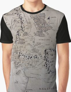 LotR map Graphic T-Shirt