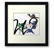 W is for... Framed Print