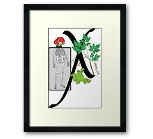 X is for... Framed Print