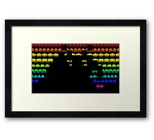 Colors Space Invaders Framed Print