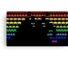 Colors Space Invaders Canvas Print