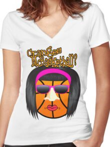 Cranges McBasketball Women's Fitted V-Neck T-Shirt