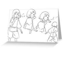 Haku in Motion - Spirited Away Greeting Card