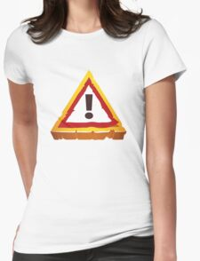 hazard sign Womens Fitted T-Shirt