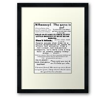 BBC Doctor Who and Sherlock Quotes Framed Print