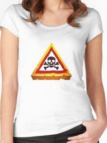 hazard sign Women's Fitted Scoop T-Shirt
