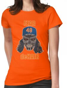 Fear deHair (w/ Orange Lettering) Womens Fitted T-Shirt