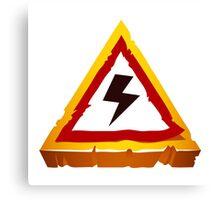electrical hazard sign Canvas Print