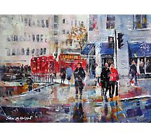 City Art - Outside Charing Cross Station London Photographic Print