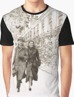 Sepia Walk Graphic T-Shirt
