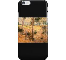 'Trees in a Field on a Sunny Day' by Vincent Van Gogh (Reproduction) iPhone Case/Skin
