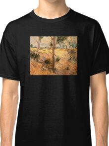 'Trees in a Field on a Sunny Day' by Vincent Van Gogh (Reproduction) Classic T-Shirt