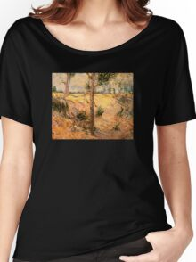 'Trees in a Field on a Sunny Day' by Vincent Van Gogh (Reproduction) Women's Relaxed Fit T-Shirt
