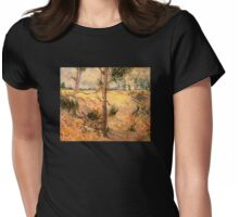 'Trees in a Field on a Sunny Day' by Vincent Van Gogh (Reproduction) Womens Fitted T-Shirt