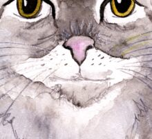 Majestic Meow - watercolor cat Sticker