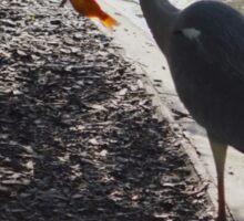 Fishing Stork Sticker