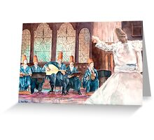 Whirling Dervishes by Paul Sagoo Greeting Card