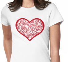 Valentites heart of objects red Womens Fitted T-Shirt