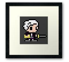 pixel robin Framed Print