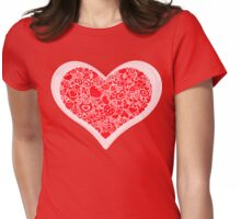 Valentites heart of objects rose Womens Fitted T-Shirt