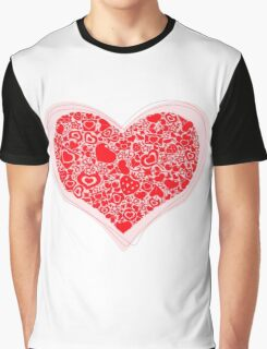 Valentites heart of objects rose Graphic T-Shirt