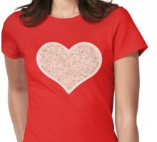 Valentites heart of objects beige Womens Fitted T-Shirt