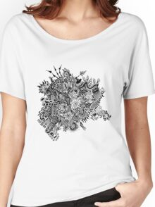 Random Doodle Women's Relaxed Fit T-Shirt